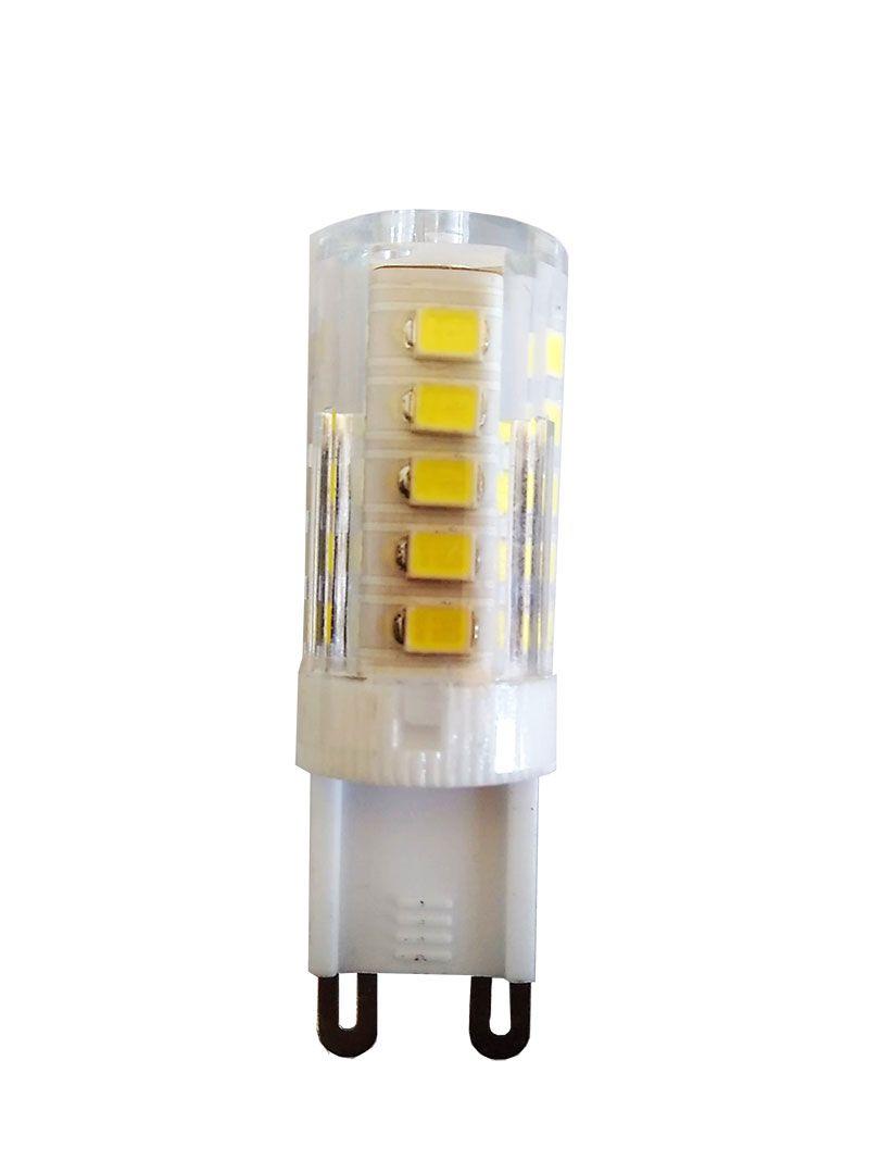 Kit Pendente/plafon Cromado Soho 50cm Pd001cr Bella + 6 Lâmpadas LED 3000k 127v