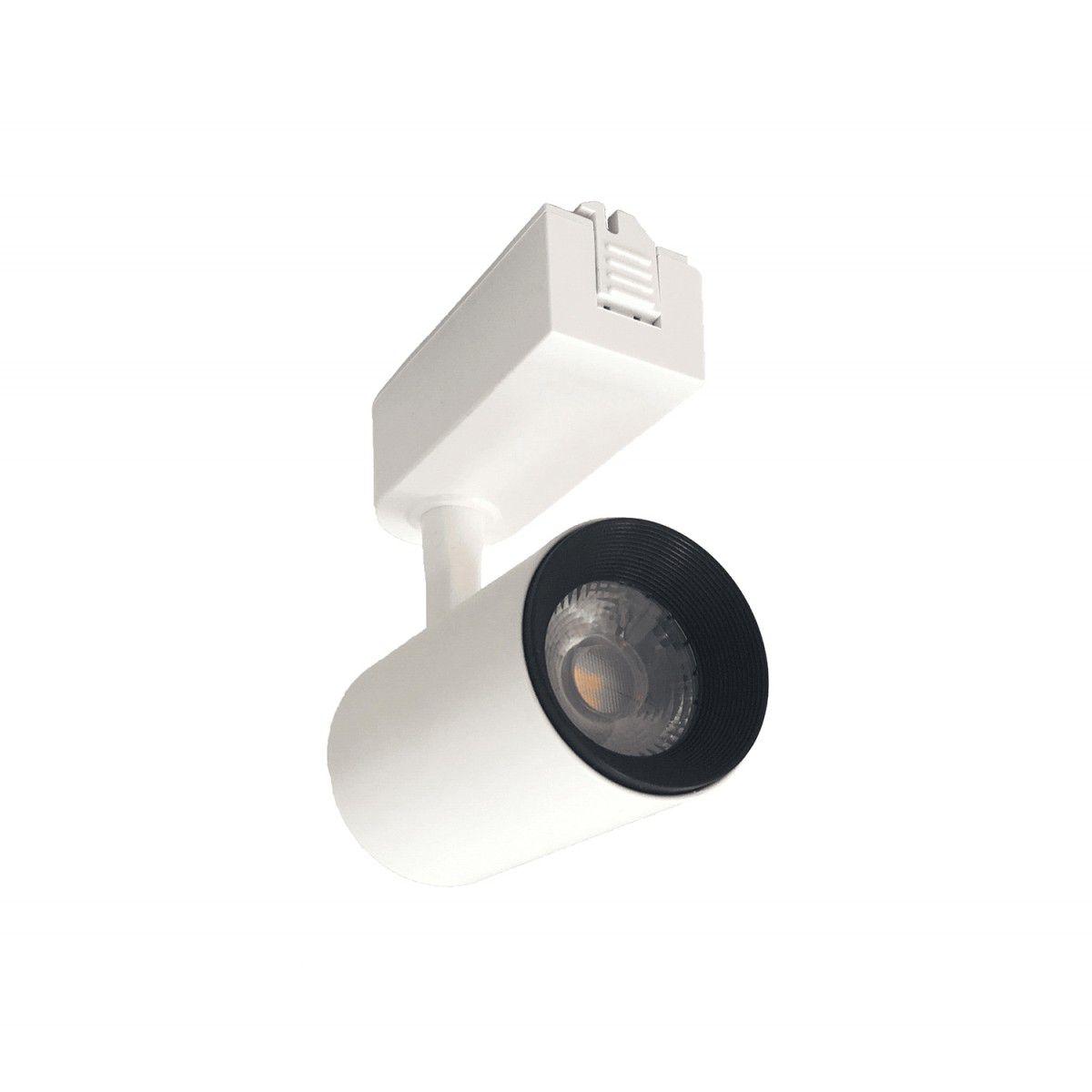 KIt Trilho Eletrificado 60CM + 3 Spots Branco LED 7W 3000K