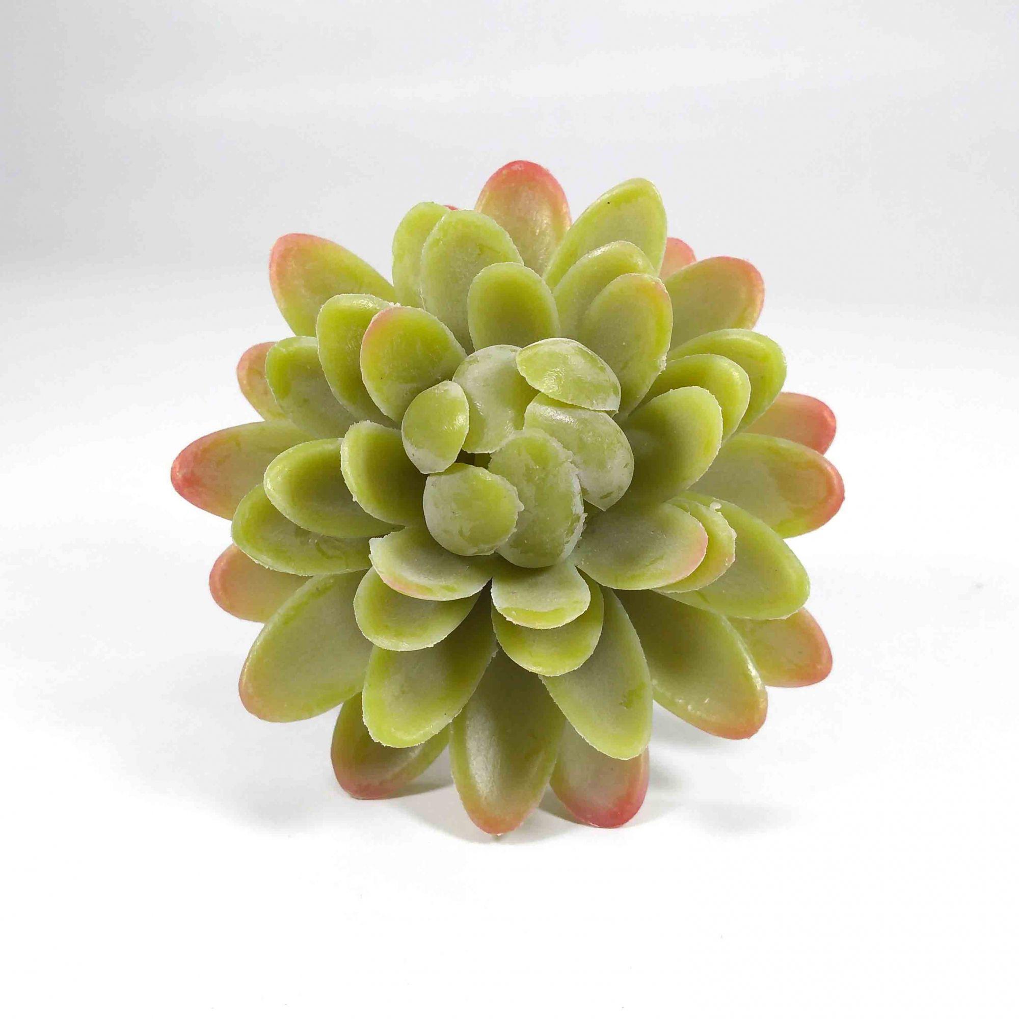 Kit Vaso Cerâmica Corda + Flor Suculenta