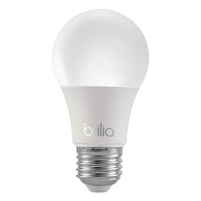 Lâmpada A55 Bulbo LED 8W 3000K Bivolt Brilia