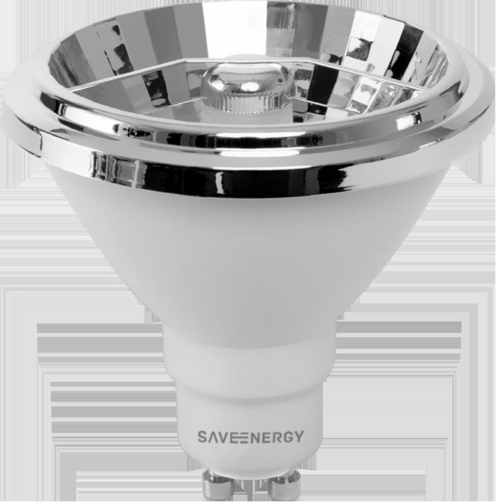 Lâmpada AR70 Super Led 8W 2700K Alto IRC Refletora Save Energy
