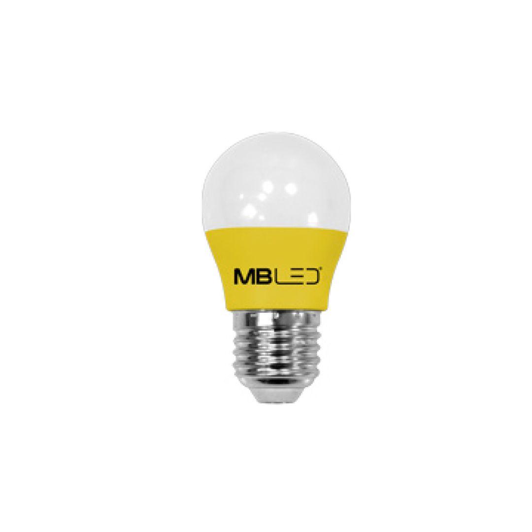 Lâmpada Bolinha G45 LED 5W Amarela Bivolt