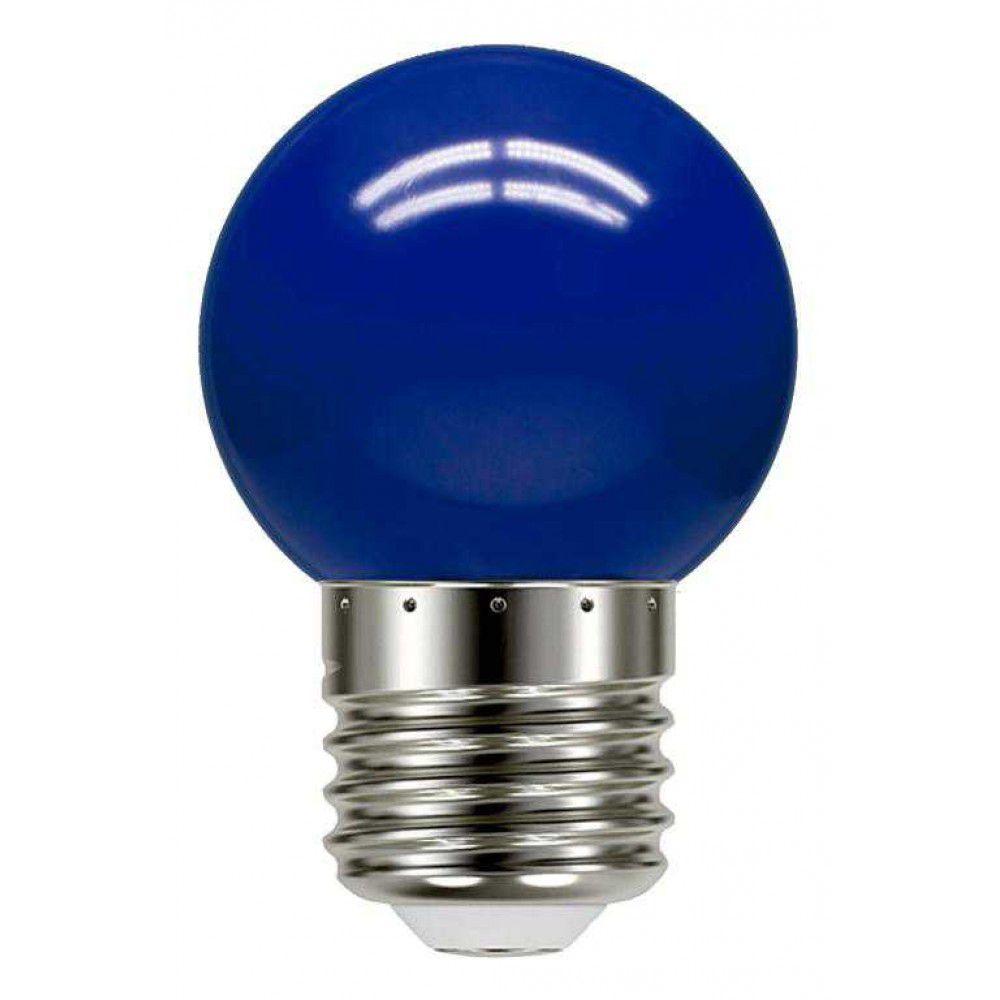 Lâmpada Bolinha Led Azul 1W 127V Embu Led