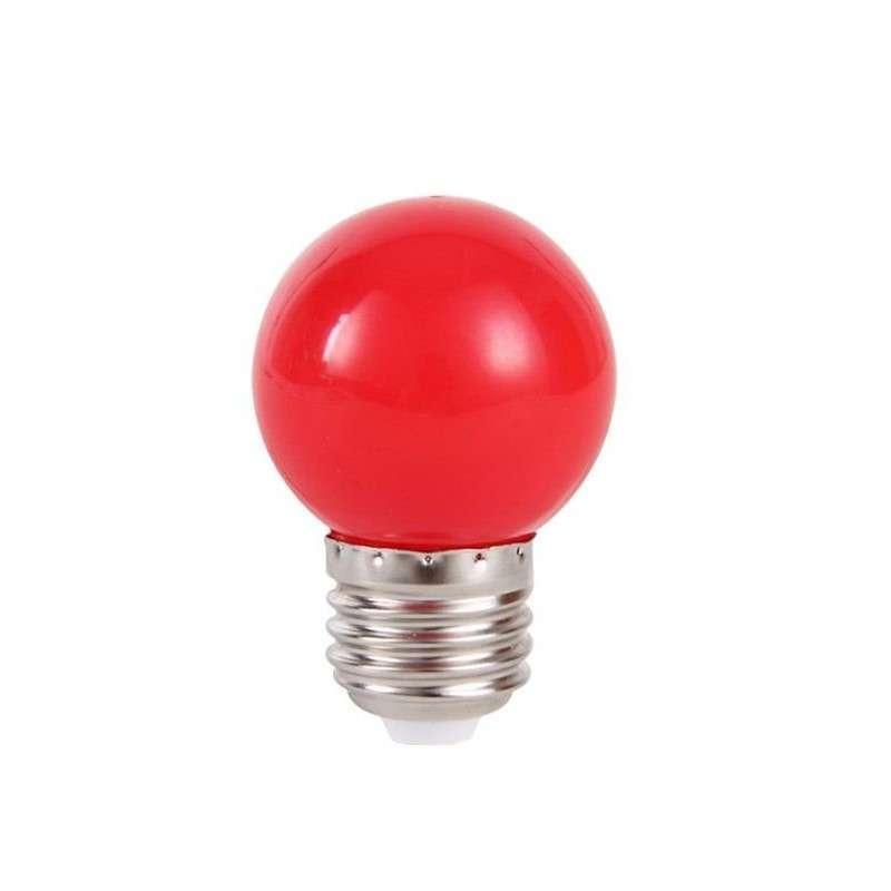 Lâmpada Bolinha Led Vermelha 1W 127V Embu Led