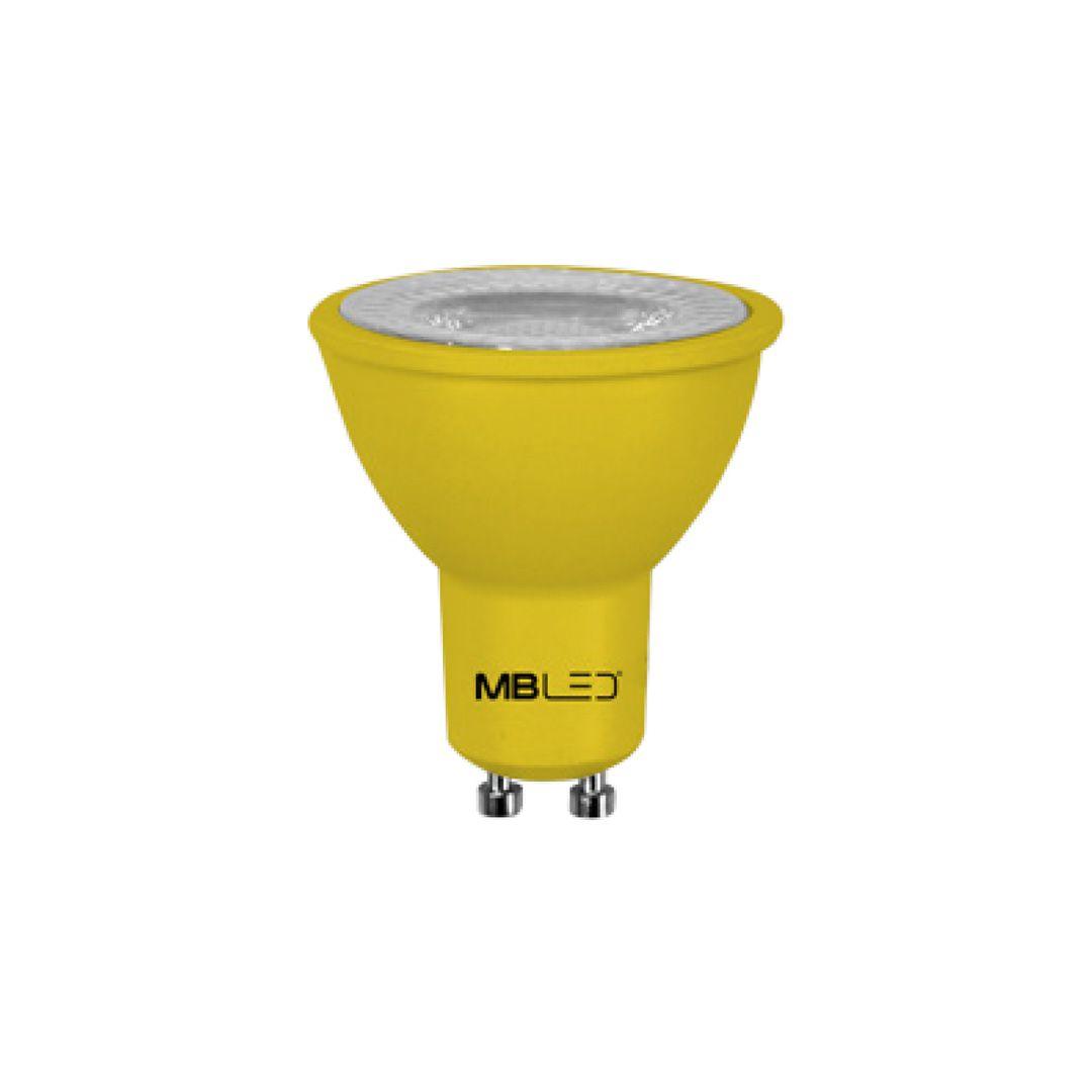 Lâmpada Dicroica LED MR16 6W Amarelo Bivolt