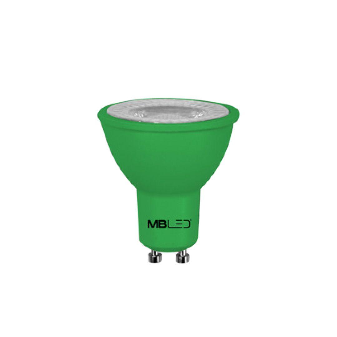 Lâmpada Dicroica LED MR16 6W Verde Bivolt