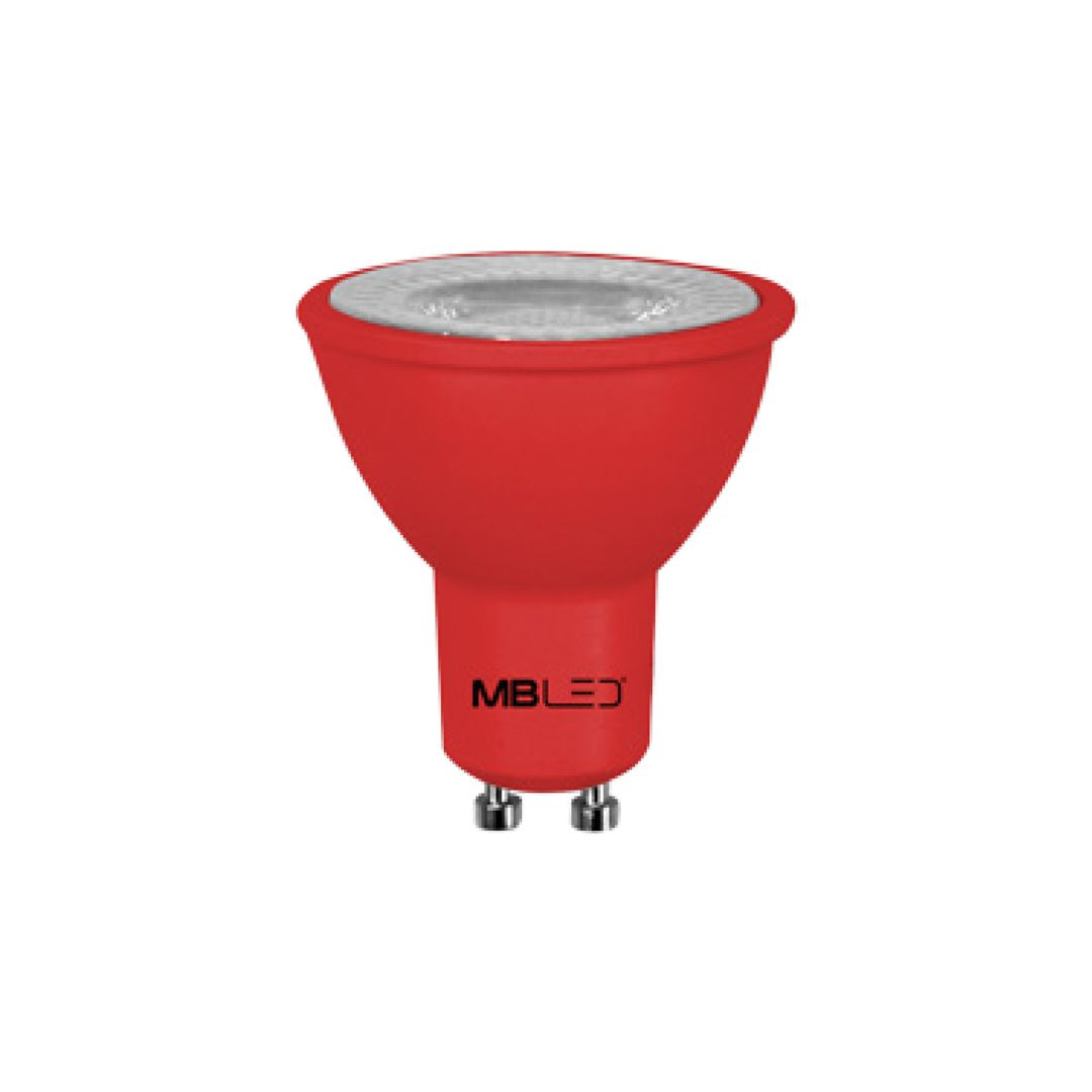Lâmpada Dicroica LED MR16 6W Vermelha Bivolt