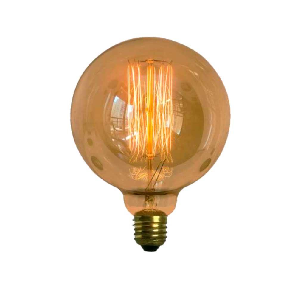 Lâmpada Filamento de Carbono G125 40W E27 127V Retro Vintage