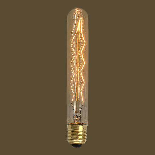 Lâmpada Filamento de Carbono T30 185 40W E27 127V Dimerizavel Retro Vintage