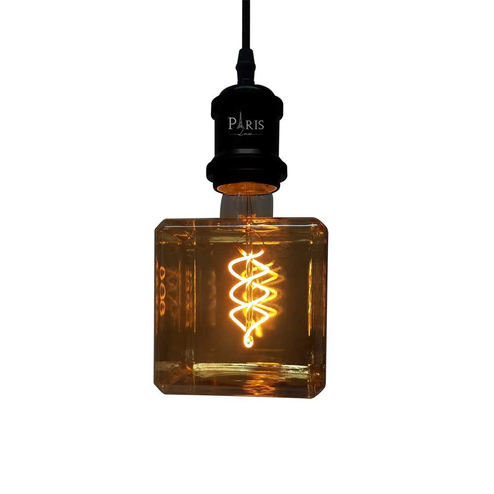 Lâmpada Filamento LED 4W E27 Cubo Q101 2200K Bivolt
