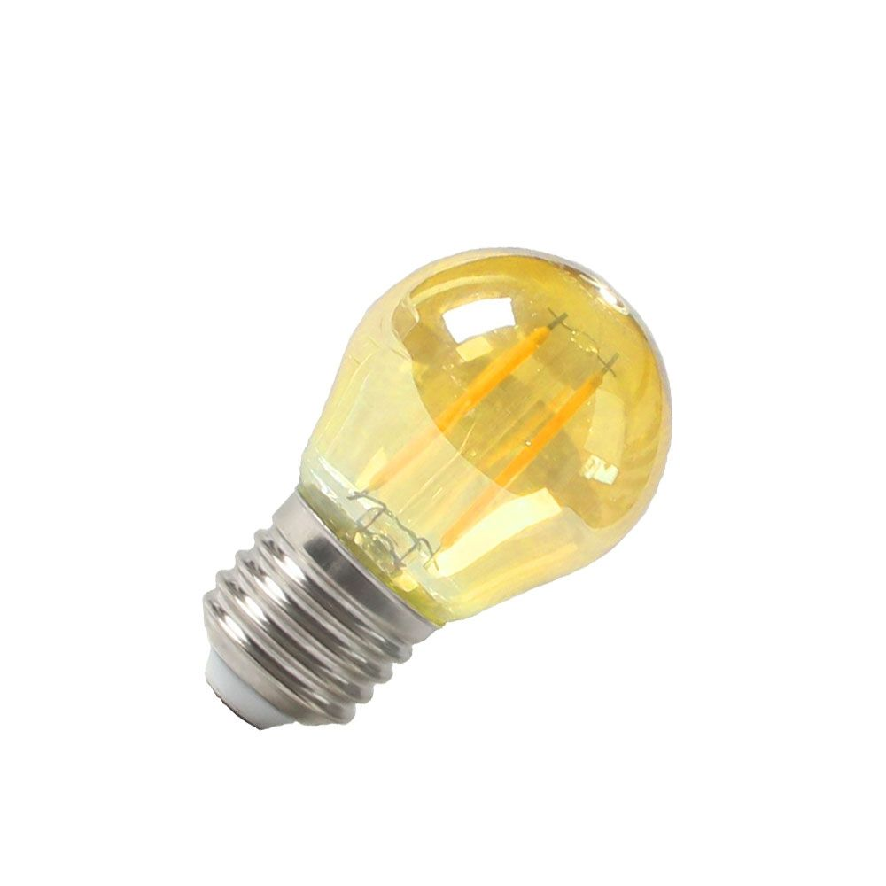 Lâmpada Filamento LED Âmbar Bolinha G45 2W E27 Bivolt Embu LED