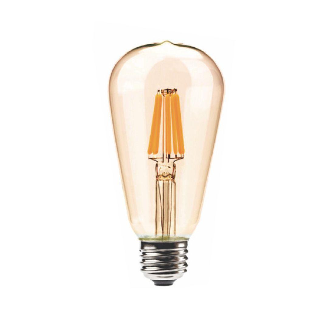 Lâmpada Filamento Led ST64 4W 2200K Vidro Âmbar Bivolt