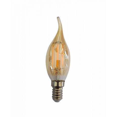 Lâmpada LED Filamento Vela Bico Chama 2W E14 Âmbar