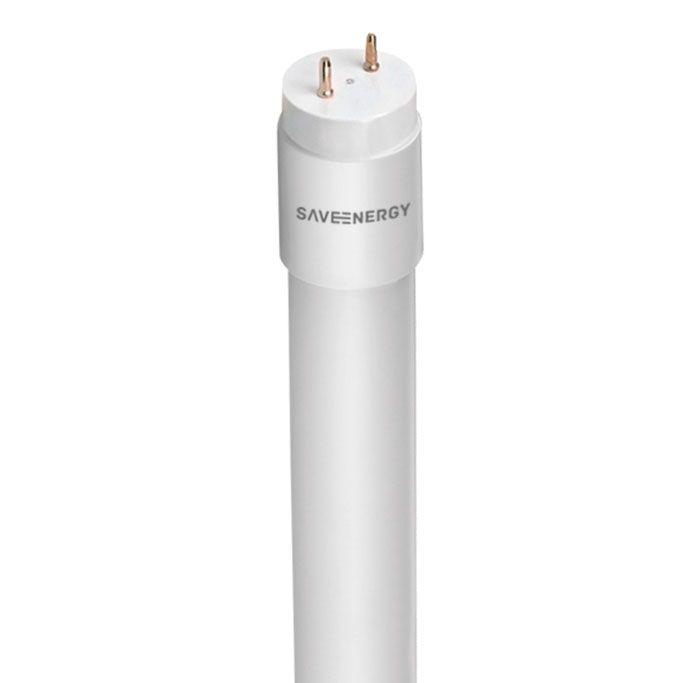 Lampada LED Tubular Vidro 3000k Luz Amarela 120CM 18W Save Energy