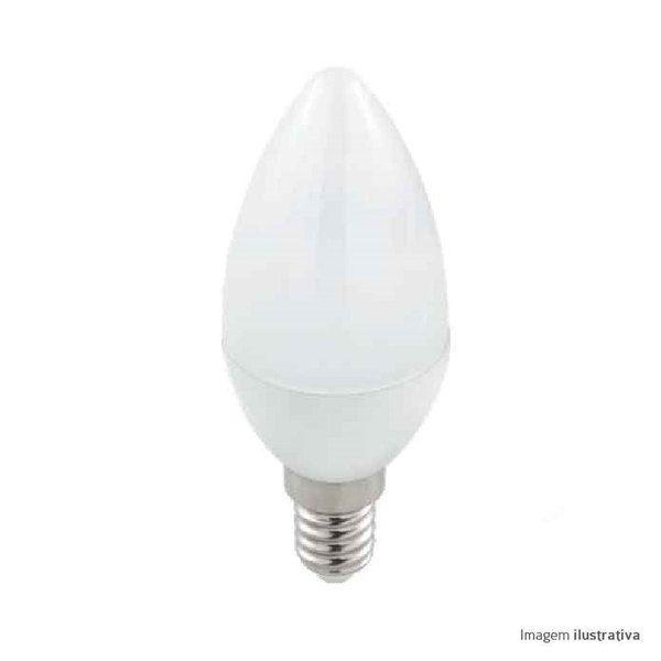 Lâmpada Vela E14 4W 6000K Luz Branca Fria Bivolt MBLED