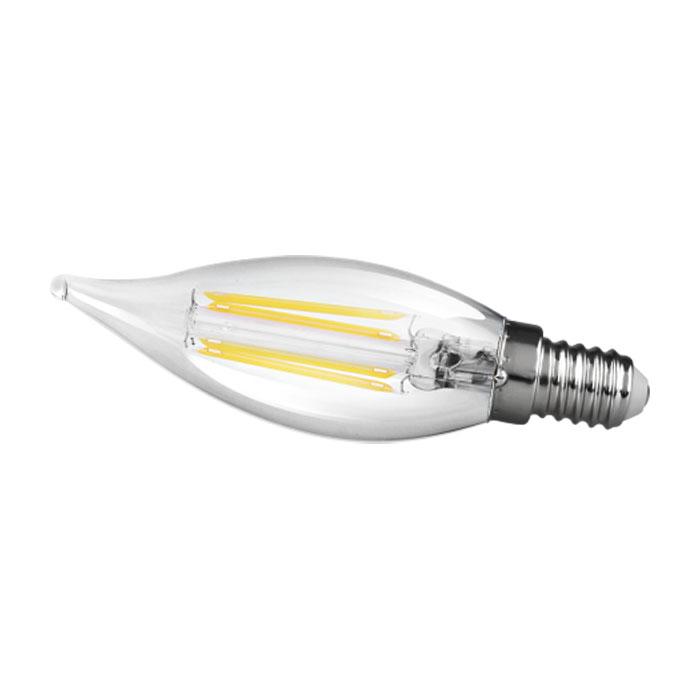 Lâmpada Vela Led E14 2W 2400K Filamento Chama Transparente 220V Save Energy