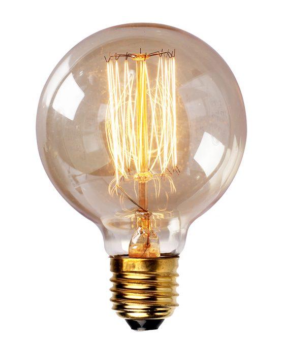 LAMPADA VINTAGE - FILAMENTO DE CARBONO - G125 40W 220V E27 ALTALUCE