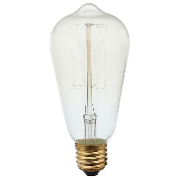 LAMPADA VINTAGE - FILAMENTO DE CARBONO ST64 - THOMAS EDISON 40W 220V E27