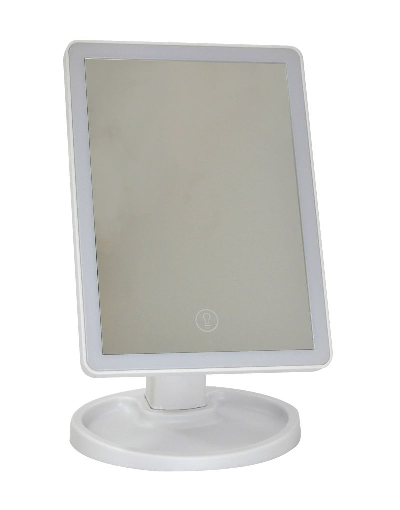 Luminaria Abajur de Mesa C/ Espelho Para Maquiagem USB/Pilha