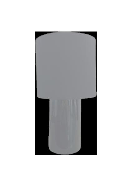 Luminaria De Mesa Abajur Cerâmica Branco 1E27 AB613/BR Kin Light
