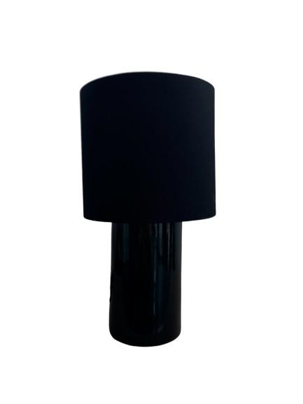 Luminaria De Mesa Abajur Cerâmica Preto 1E27 AB613/PT Kin Light