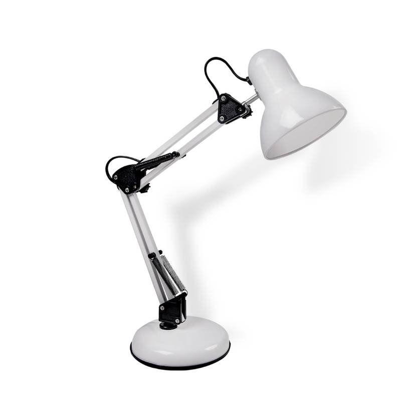 Abajur Luminária de Mesa Articulavel Pixar Branco 1E27