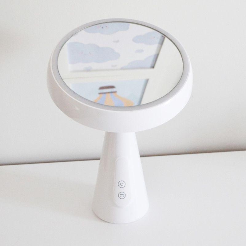 Luminária de Mesa LED com Espelho Maquiagem Recarregável