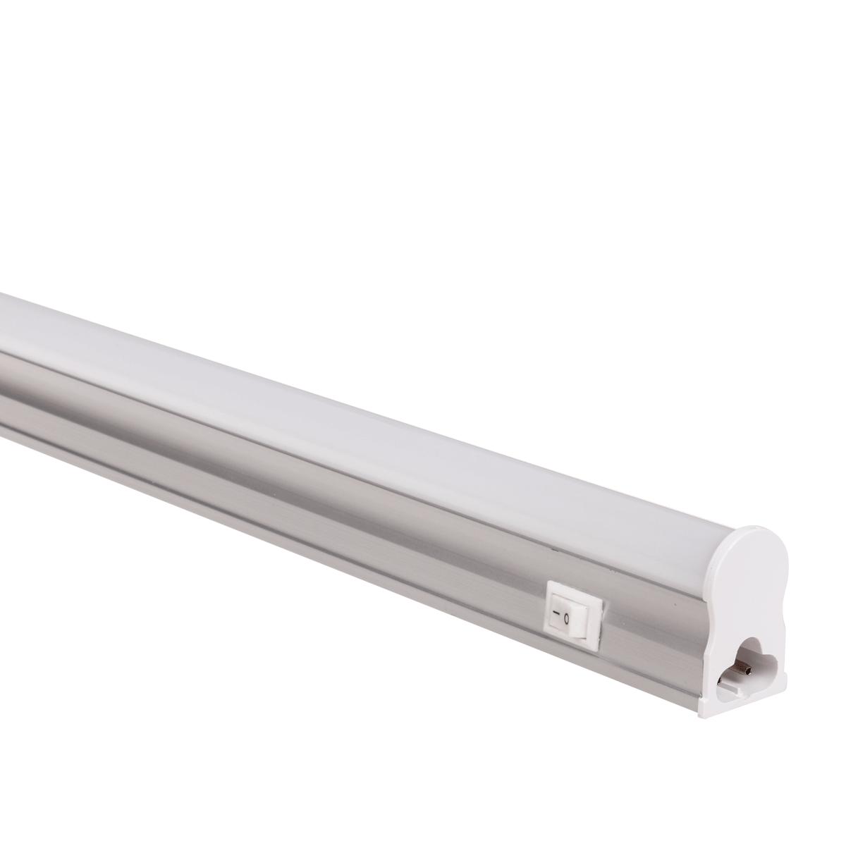 Luminaria Linear Led T5 Com Interruptor 18w 3000k Bivolt 120cm