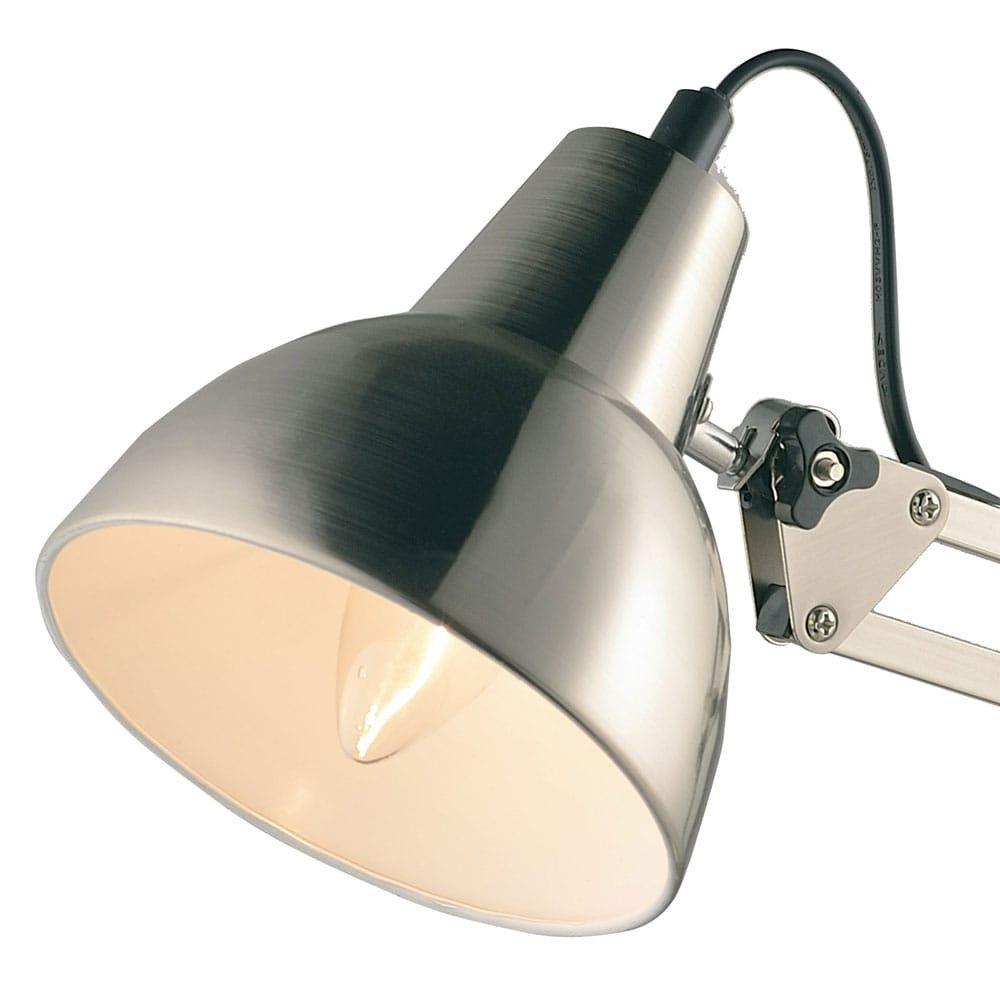 Luminaria Mesa Abajur Pixar Aço Escovado 1E27 13,5x53cm New Line