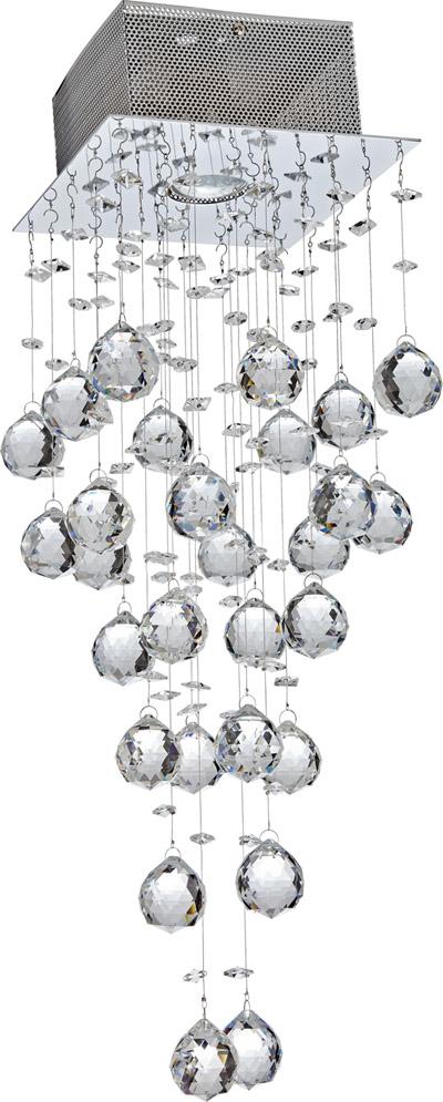 Luminaria Plafon Sobrepor De Cristal 63CM Dicroica GU10 Blumenau
