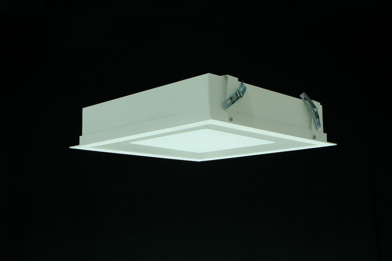 Luminária Plafon Luz Indiireta Embutir Quadrada 4G9 35X35CM REAL 201/30