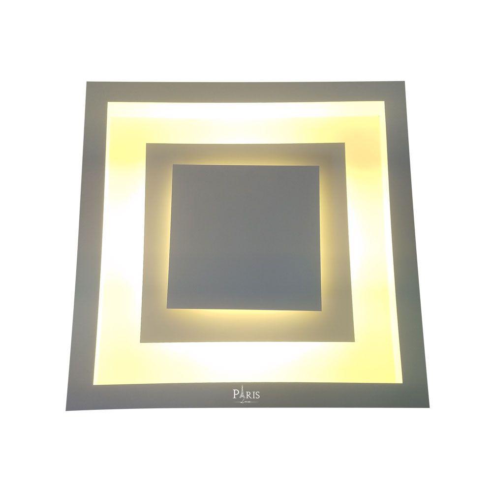 Luminária Plafon Luz Indireta Drone Embutir 30cm 4xG9 Real
