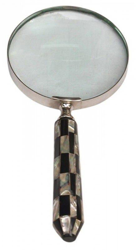 Lupa De Aumento Luxo Perola Preto/Prata PDI0001