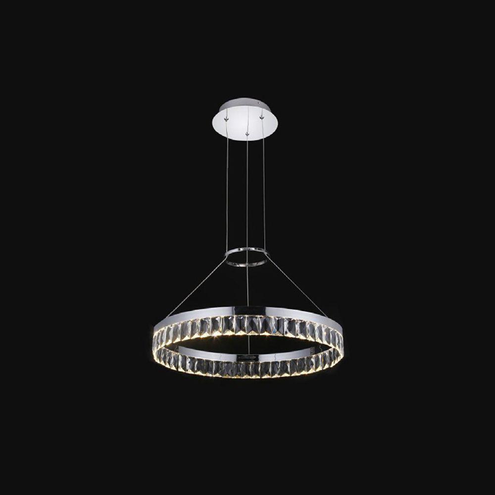 Lustre Pendente Anel Ring Cristal LED 28W 3000k 50CM Bivolt