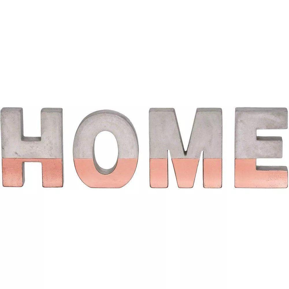 Palavra Home Decorativo Cobre Em Cimento 36X11,5CM 7691