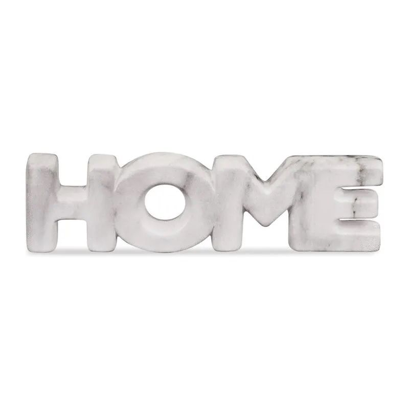 Palavra Home Decorativo Cor Mamore Em Cerâmica 21X6CM 08731