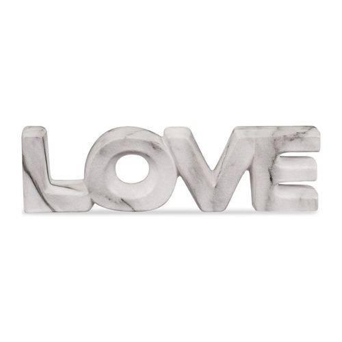 Palavra Love Decorativo Cor Mamore Em Cerâmica 21X6CM 08732