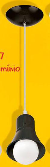 PENDENTE ALUMINIO COPO 1XE27 PRETO BLUMENAU PREMIUM