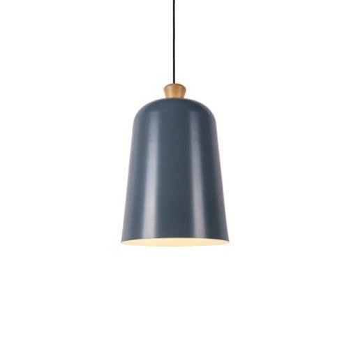 Pendente Alumínio Detalhes em madeira Preto Fosco e Dourado Interno 26x35cm 1E27