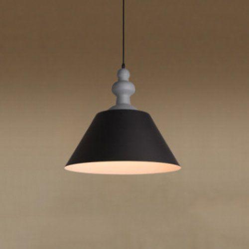 Pendente Alumínio Preto Fosco e Dourado Interno 41x40cm 1E27