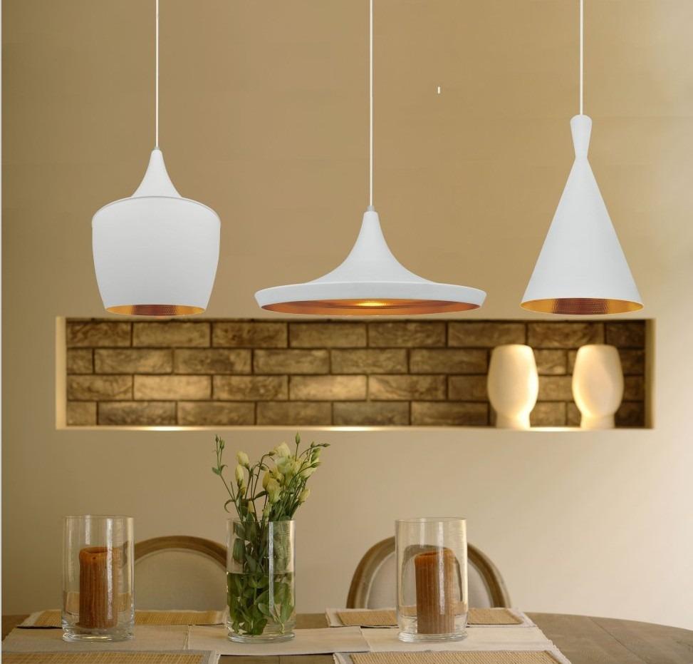 Pendente Chapeu Branco/Dourado Aluminio Blumenau