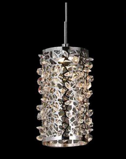 Pendente Clear Metal e Cristal Transparente Led 4,5W 12x18CM OU-1014