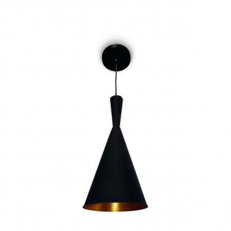 Pendente Cone Preto/Dourado Aluminio Tom Dixon Blumenau