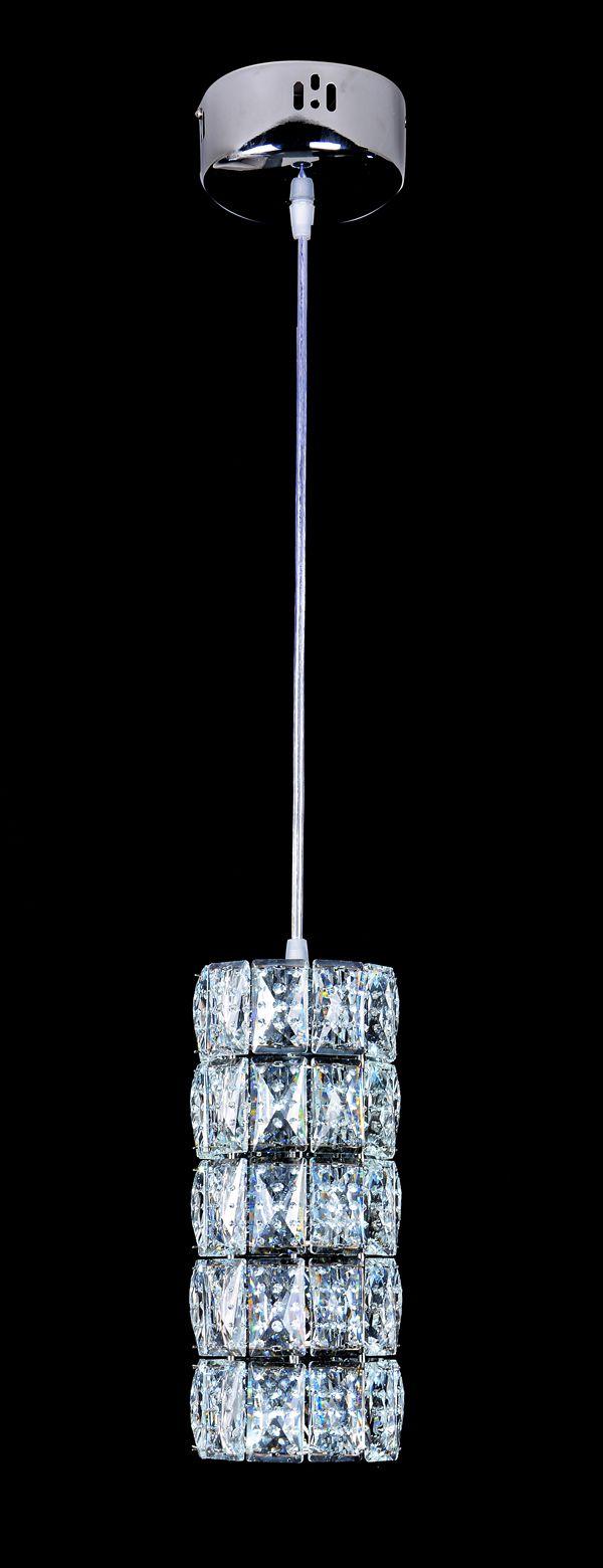 Pendente Cristal 3000K/6000K 12x26CM
