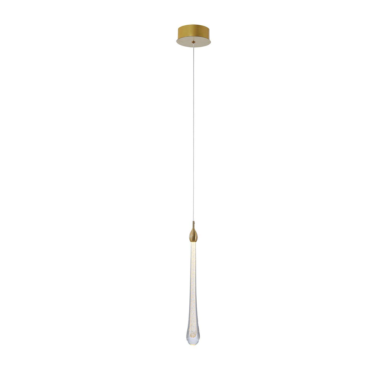 Pendente Cristal Goccia 41cm LED 2W Dourado OC002S Bella