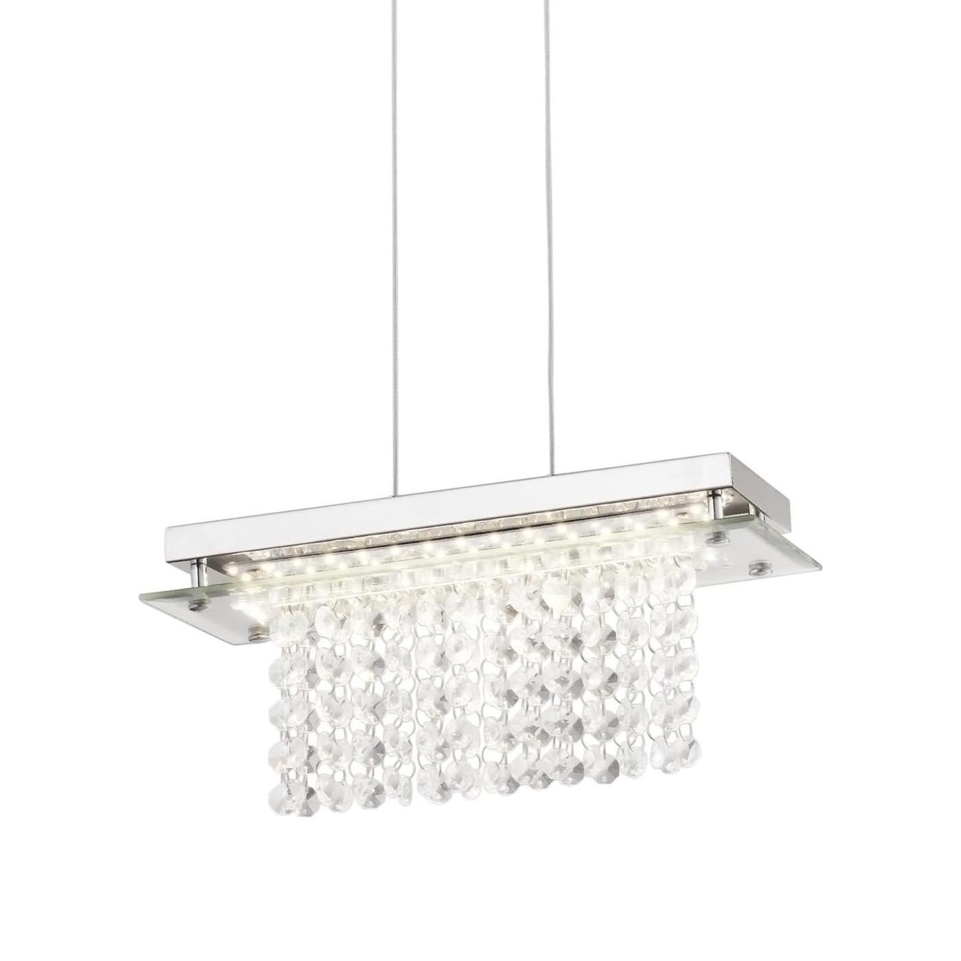 Pendente Cristal LED Versalhes Retangular 30x12cm 12W 4000K QPD887