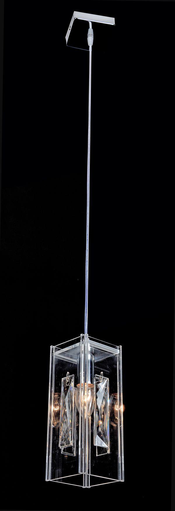 Pendente Cristal Transparente 1E14 10x10CM