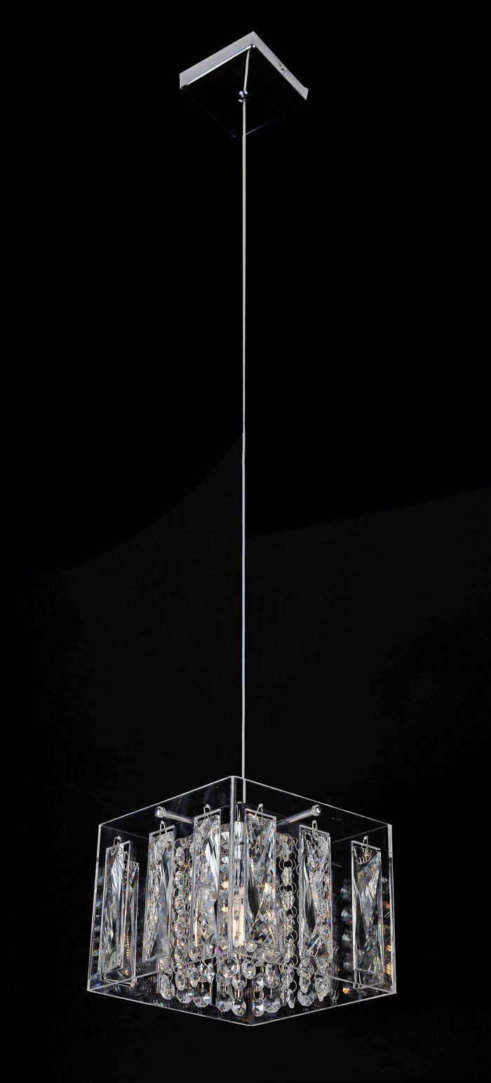 Pendente Cristal Transparente 1G9 18x18CM