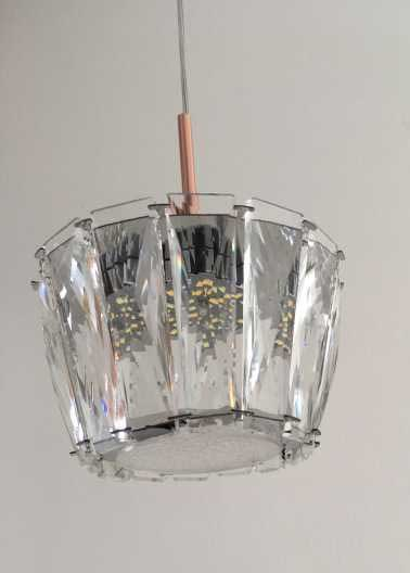 Pendente Cristal Transparente LED 18W 13cm Bivolt