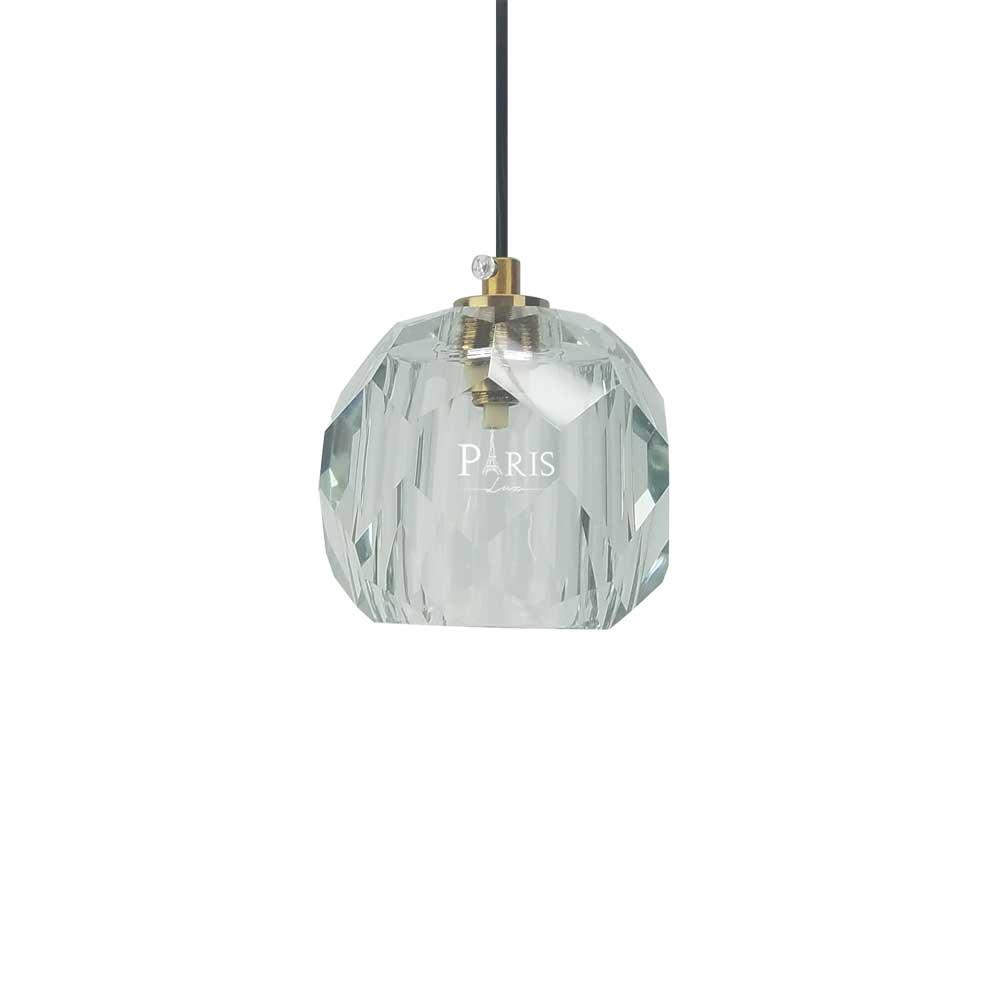 Pendente Cristal Vidro 1G9 9x10cm